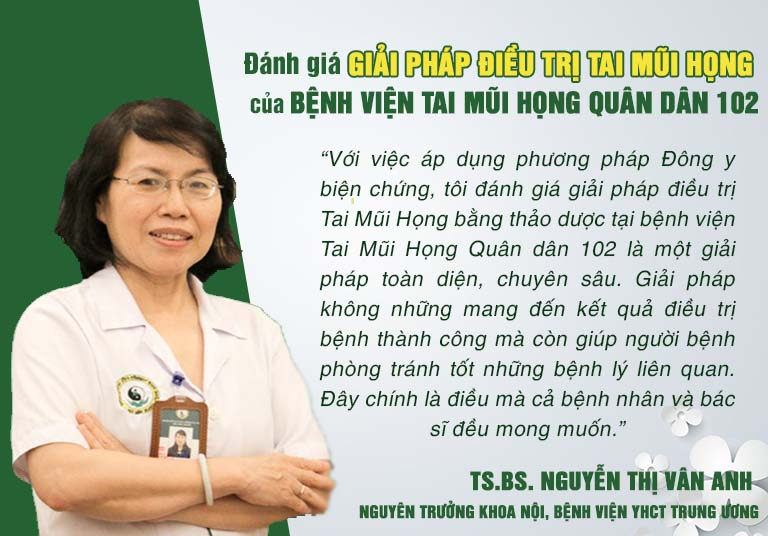Nhận xét của TS.BS. Nguyễn Thị Vân Anh về tính an toàn, hiệu quả của giải pháp điều trị Tai Mũi Họng tại bệnh viện