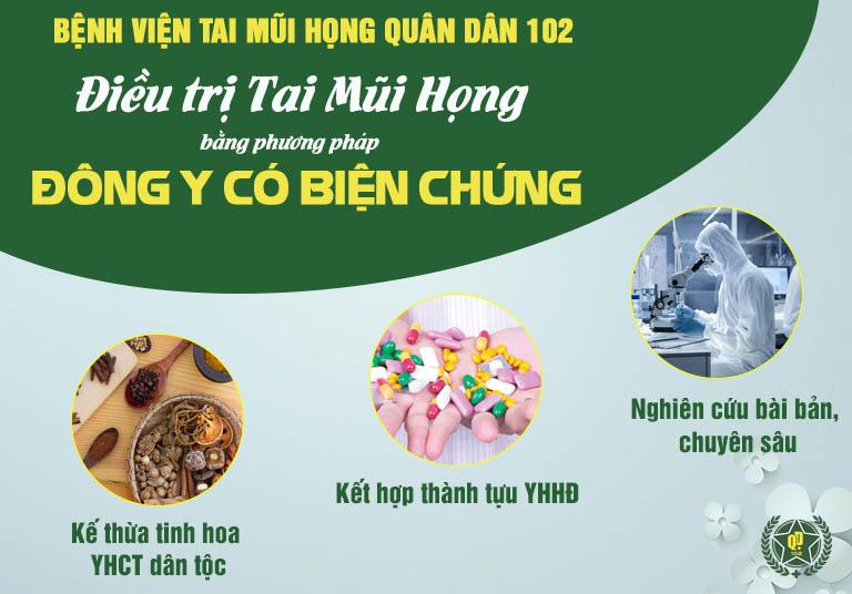 Bệnh viện Tai Mũi Họng Quân dân 102 ứng dụng phương pháp điều trị Đông y có biện chứng