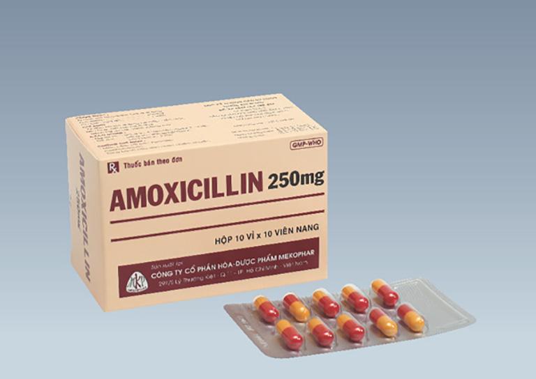 Thuốc kháng sinh Amoxicillin được dùng cho người bệnh viêm họng cấp