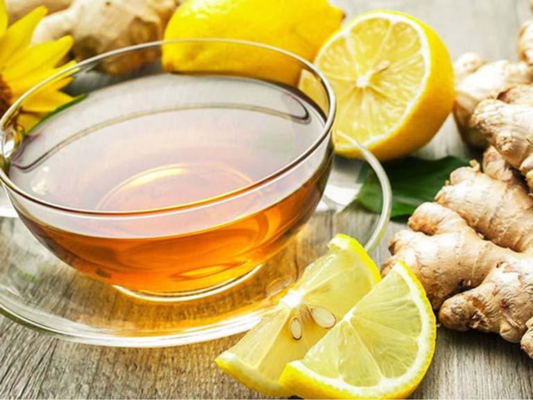 Uống trà gừng giúp giảm nhẹ triệu chứng bệnh
