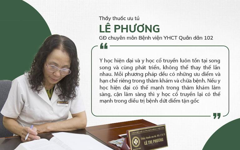 Bác sĩ Lê Phương - Giám đốc chuyên môn bệnh viện trực tiếp điều trị bệnh lý tai mũi họng cho người bệnh