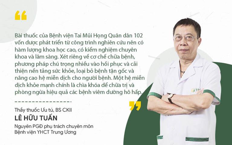 Bác sĩ Tuấn nhận xét bài thuốc Thanh Hầu Bổ Phế Thang