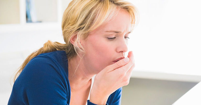Người bệnh có thể bị ho nhiều, dữ dội và tổn thương mô phổi khi nhiễm khuẩn lao