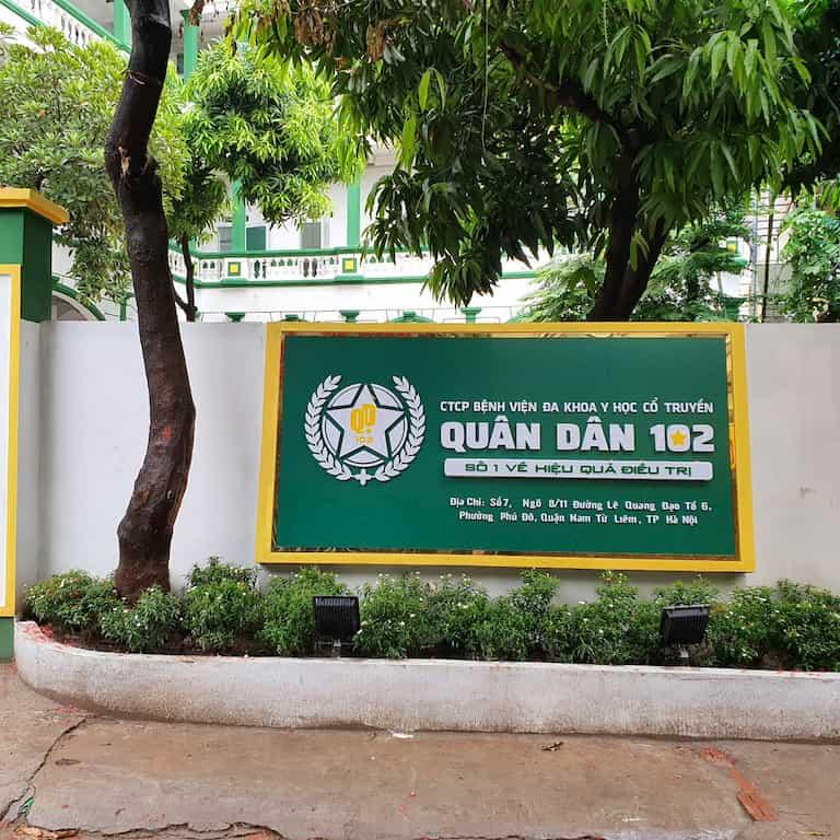 Bệnh viện Tai Mũi Họng Quân dân 102 trực thuộc Bệnh viện Đa khoa YHCT Quân dân 102