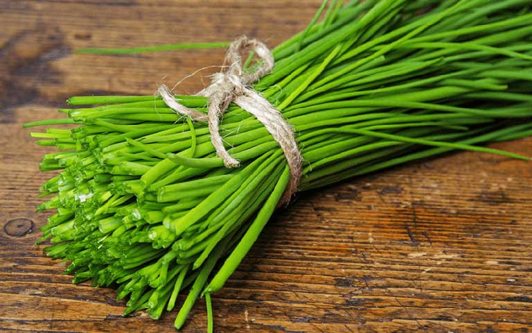 Bài thuốc dân gian chữa viêm họng hạt từ lá hẹ