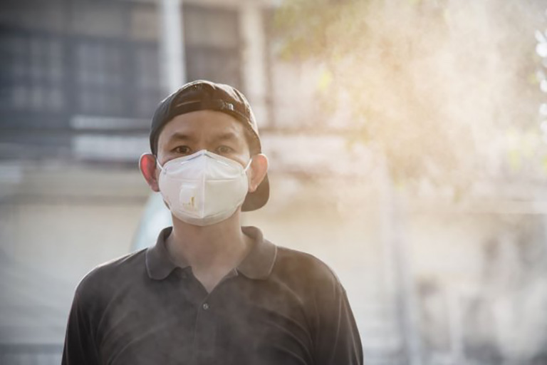 Tiếp xúc với môi trường ô nhiễm gây ra các bệnh đường hô hấp