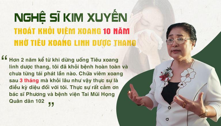 Nghệ sĩ Kim Xuyến đánh giá về hiệu quả của Tiêu xoang linh dược thang