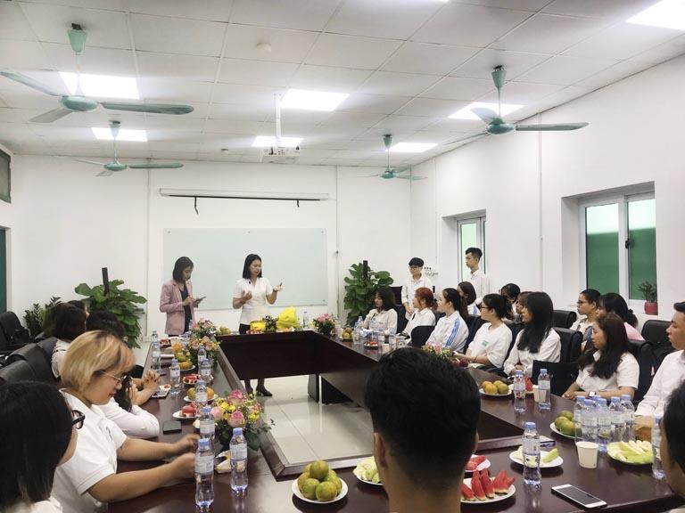Buổi lễ tiếp đón các sinh viên kiến tập từ trường Đại học Lao Động Xã Hội