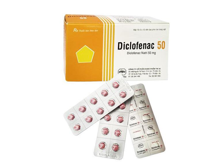 Diclofenac là thuốc kháng viêm nhóm không steroid