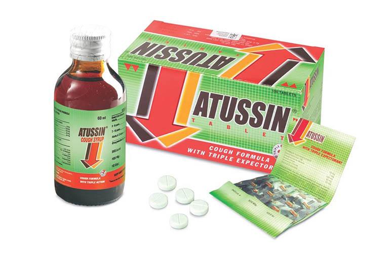 Thuốc trị ho Atussin dạng siro và viên ngậm