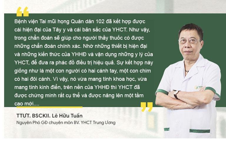 Thầy thuốc ưu tú, bác sĩ Lê Hữu Tuấn - Nguyên PGĐ Chuyên môn bệnh viện YHCT Trung ương