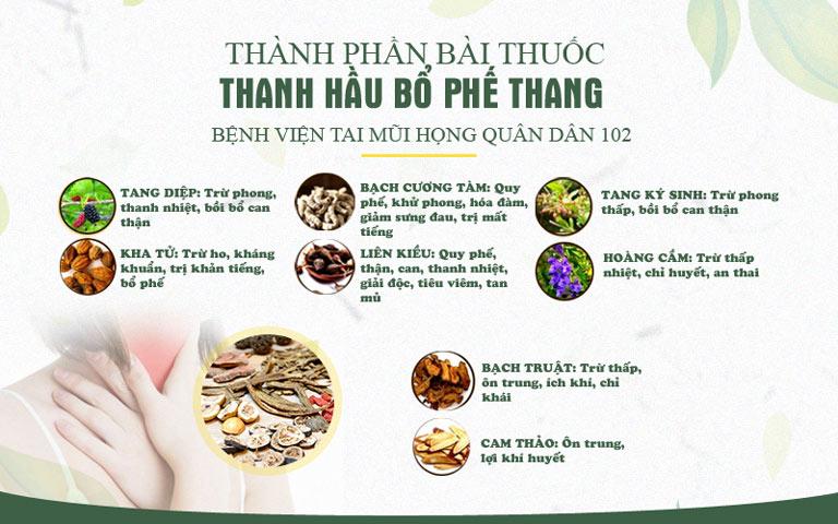 Một số vị thuốc trong Thanh Hầu Bổ Phế Thang