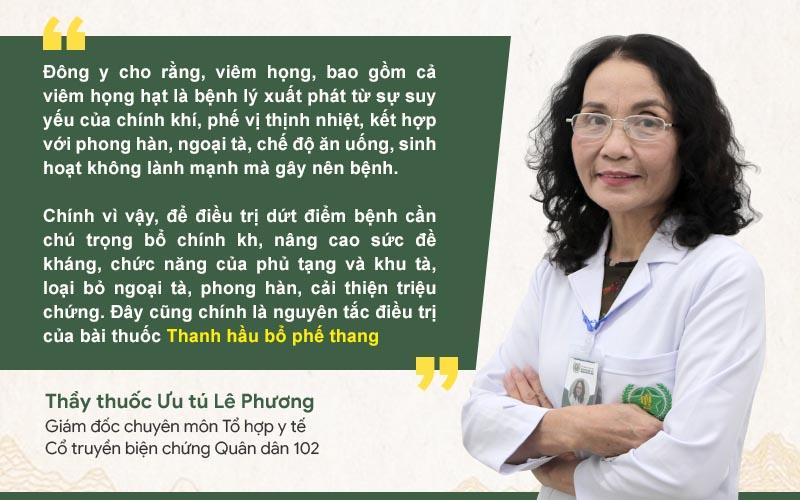 Bác sĩ Lê Phương nói về cơ chế hoạt động của bài thuốc