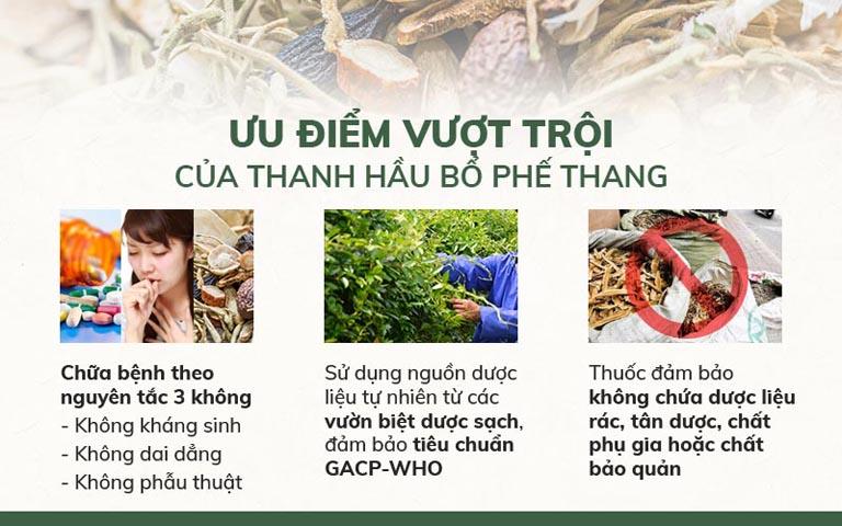 Ưu điểm của bài thuốc Thanh Hầu Bổ Phế Thang