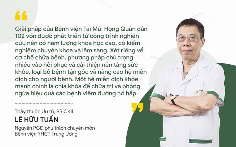 Bác sĩ Lê Hữu Tuấn đánh giá