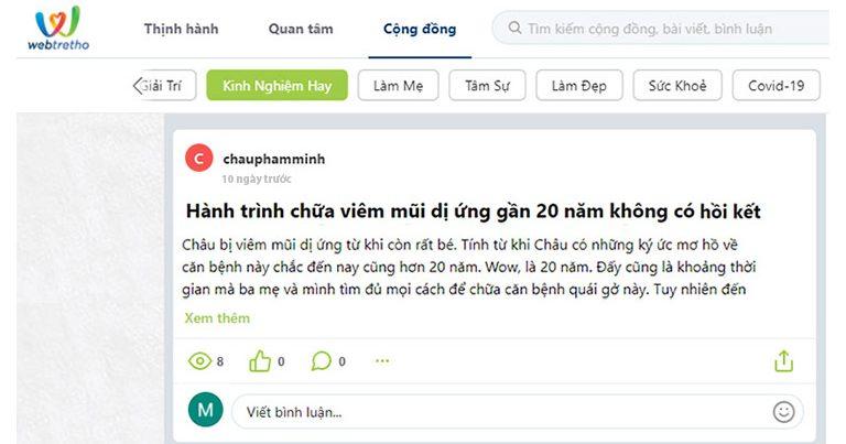 Bài viết được đăng lên trang Webtretho.com