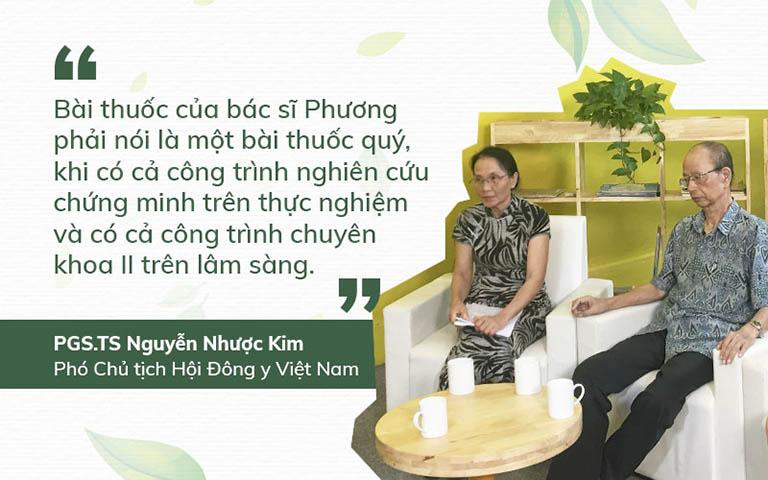 Nhận xét của Cố PGS. TS Nguyễn Nhược Kim - Phó chủ tịch Hội Đông y Việt Nam