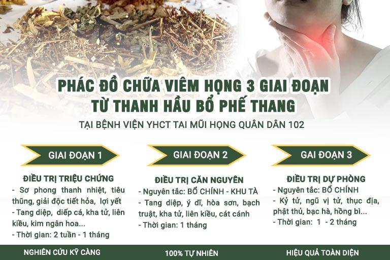Phác đồ chữa viêm họng từ bài thuốc Thanh Hầu Bổ Phế Thang