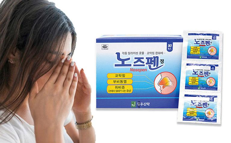 Một trong những loại thuốc chữa bệnh phổ biến là Nosepen từ Hàn Quốc