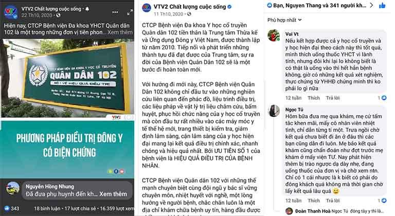 VTV2 đưa tin về phương pháp Đông y có biện chứng