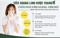 Tiêu Xoang linh dược thang của bệnh viện Tai mũi họng Quân Dân 102