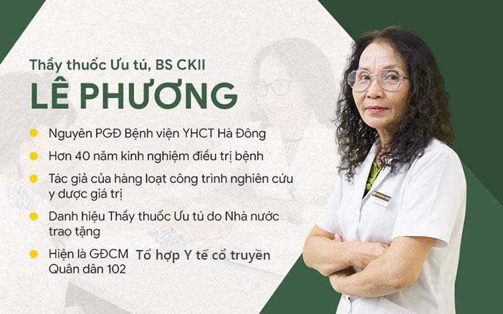 Bác sĩ Lê Phương - Người phụ trách chính dự án nghiên cứu bài thuốc Thanh Hầu bổ phế thang