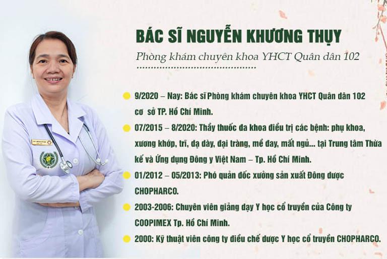 Lương y Nguyễn Khương Thụy có hơn 30 năm kinh nghiệm điều trị