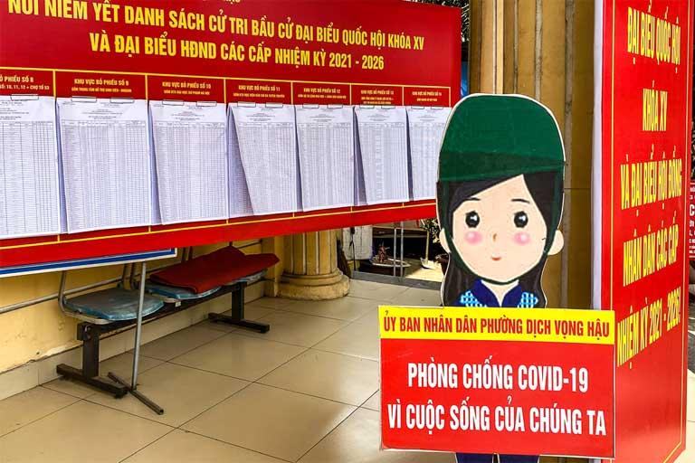 Đề cao tinh thần phòng dịch Covid -19 uộc bầu cử ĐBQH và HĐND các cấp nhiệm kỳ 2021-2026