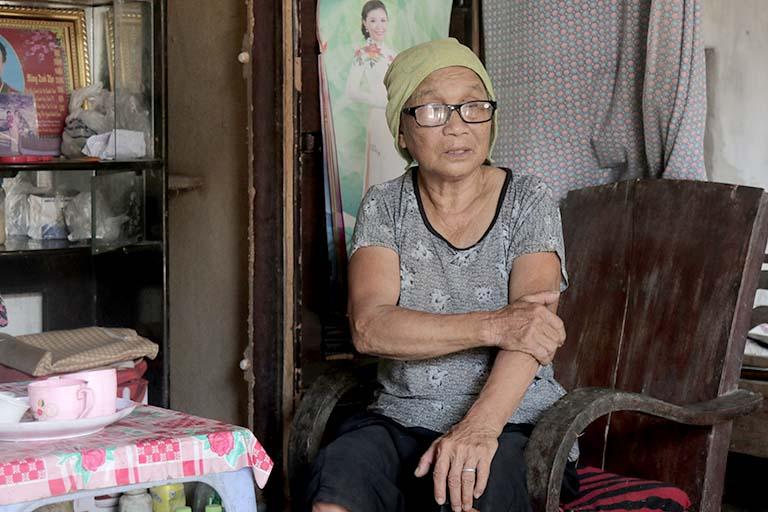 Cụ Vũ Thị Lượt là một hoàn cảnh đặc biệt khó khăn tại huyện Kiến Xương, Thái Bình