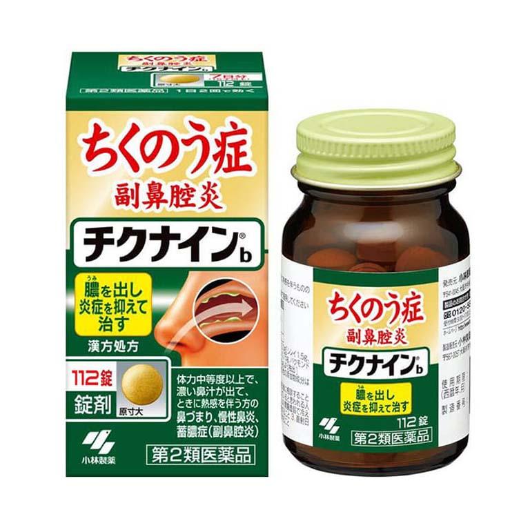 Dùng sản phẩm hỗ trợ điều trị viêm xoang sàng sau Kobayashi Chikunain