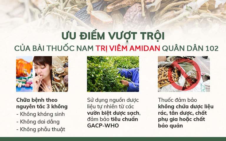 Bài thuốc chữa viêm amidan Phòng khám YHCT Quân dân 102