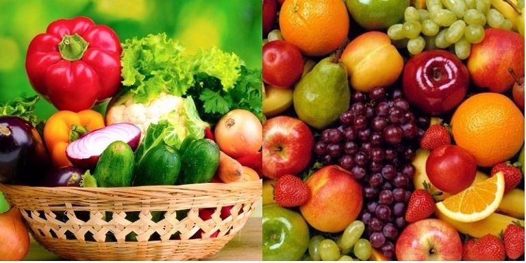 Bổ sung nhiều dưỡng chất, vitamin từ rau xanh, trái cây
