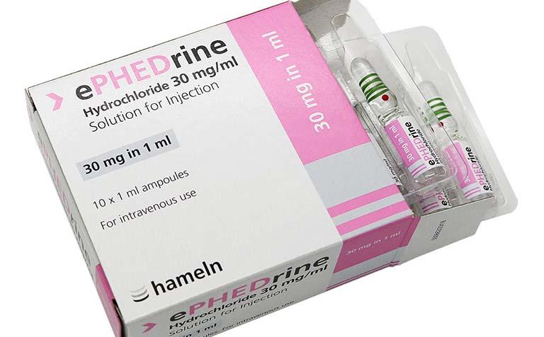 Thuốc Ephedrin 10mg dùng cho người bị xung huyết niêm mạc mũi