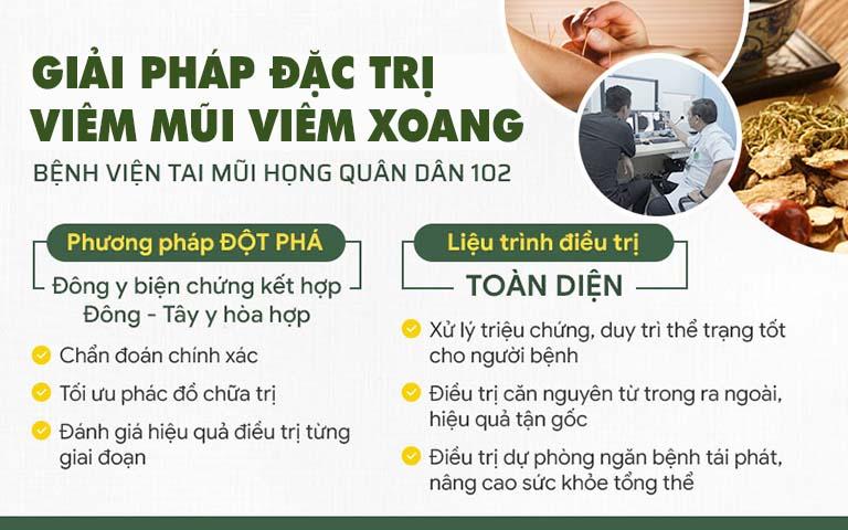 Giải pháp đặc trị viêm mũi viêm xoang Quân dân 102