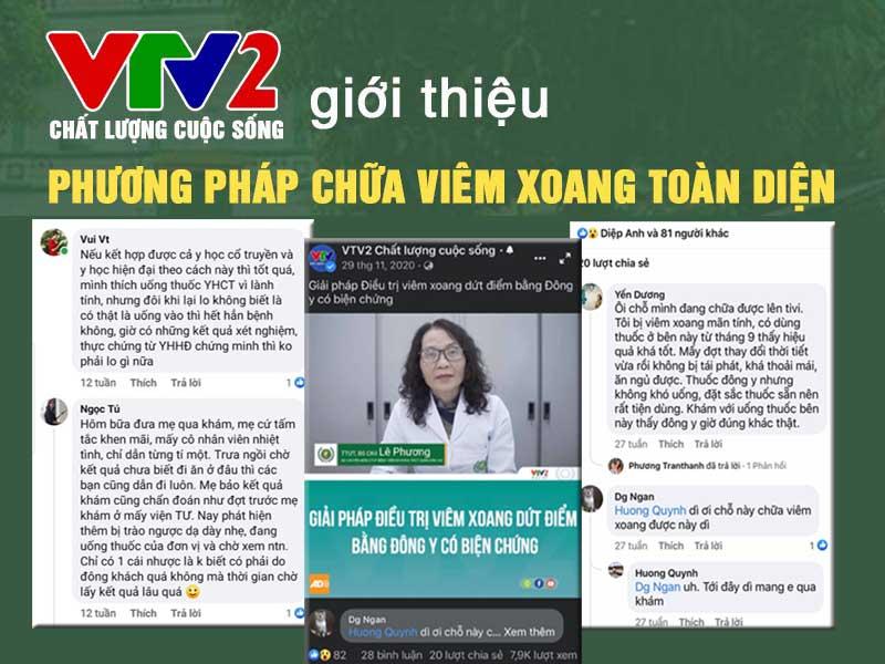 VTV2 Chất lượng cuộc sống đưa tin về giải pháp chữa viêm xoang Quân dân 102